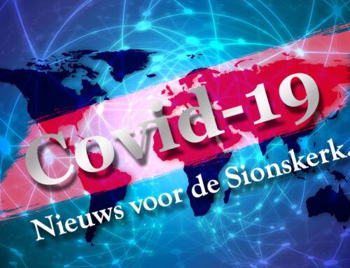 Belangrijk nieuws omtrent maatregelen Covid-19 voor de Sionskerk… (5 oktober 2020)